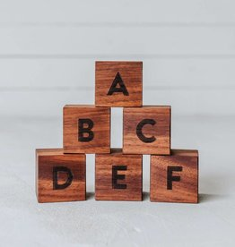 gladfolk Walnut Alphabet Blocks