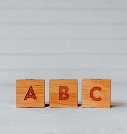 gladfolk Cherry Alphabet Blocks