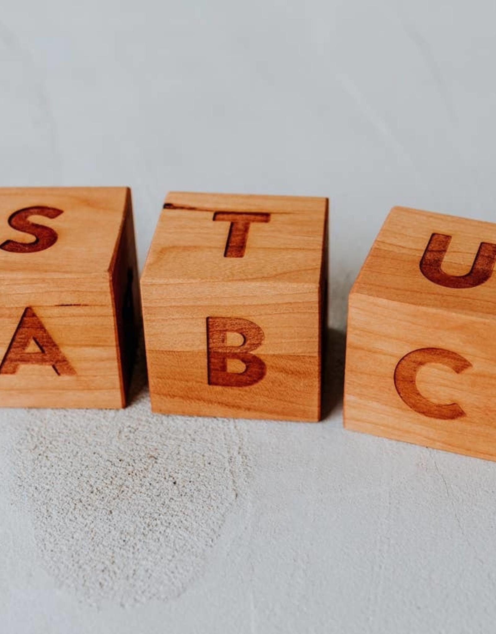 gladfolk Cherry Alphabet Blocks
