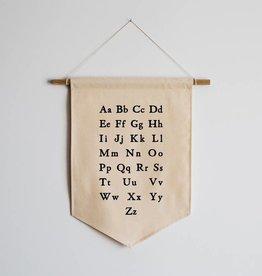 gladfolk Schoolhouse Alphabet Canvas Banner