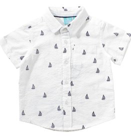 bear camp Sailboat woven shirt