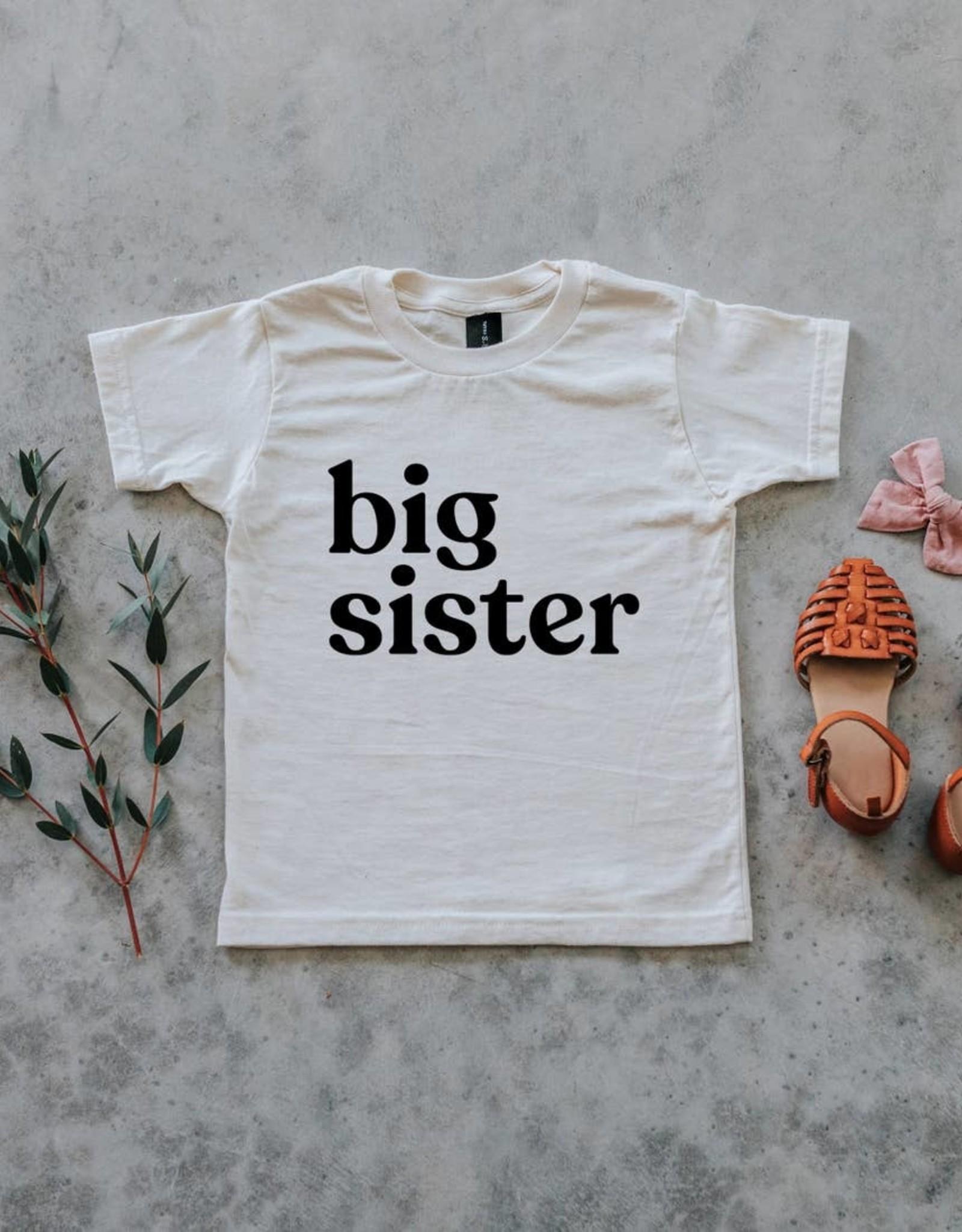 Big Sister Tee in Cream