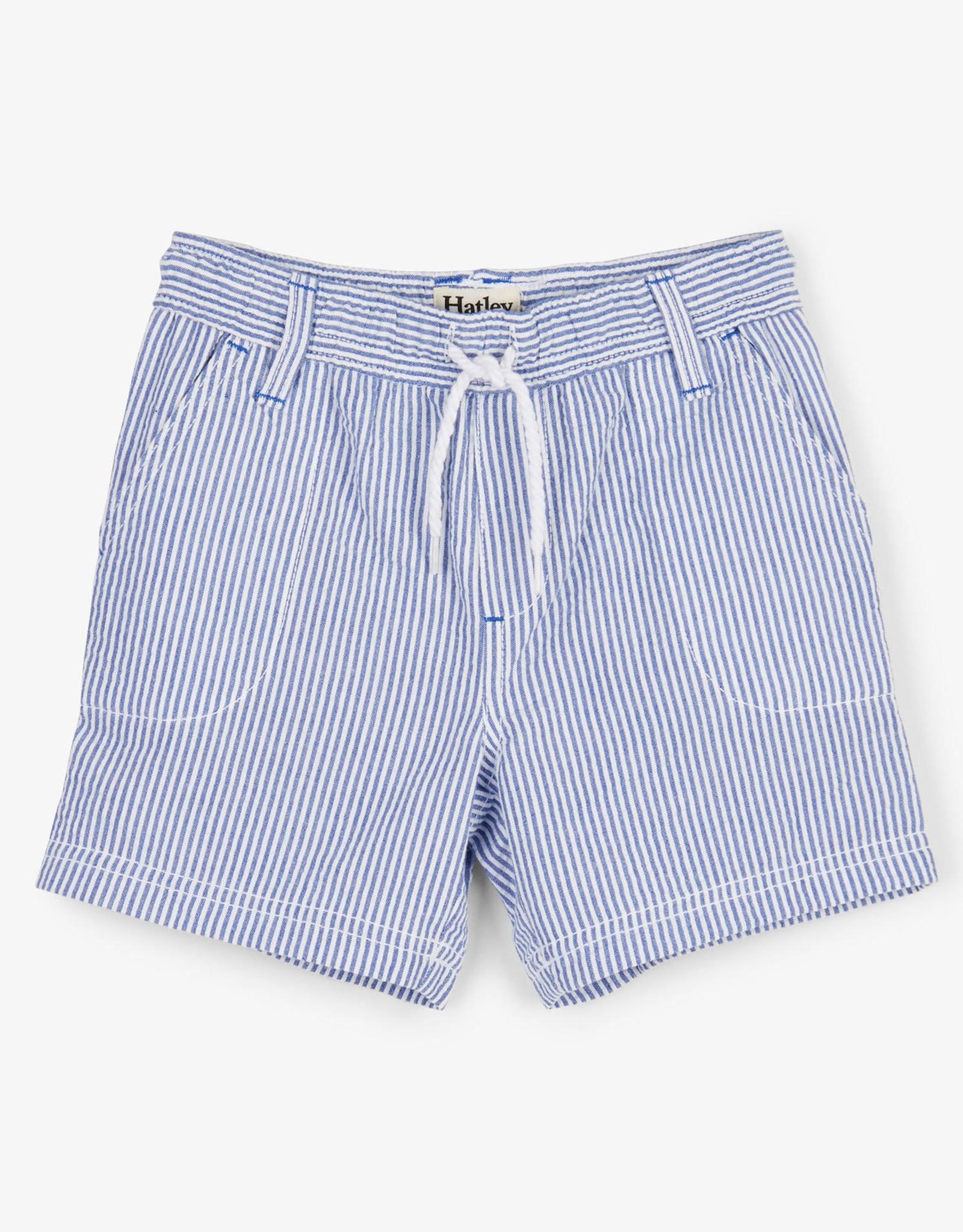 hatley Hatley blue stripe woven shorts