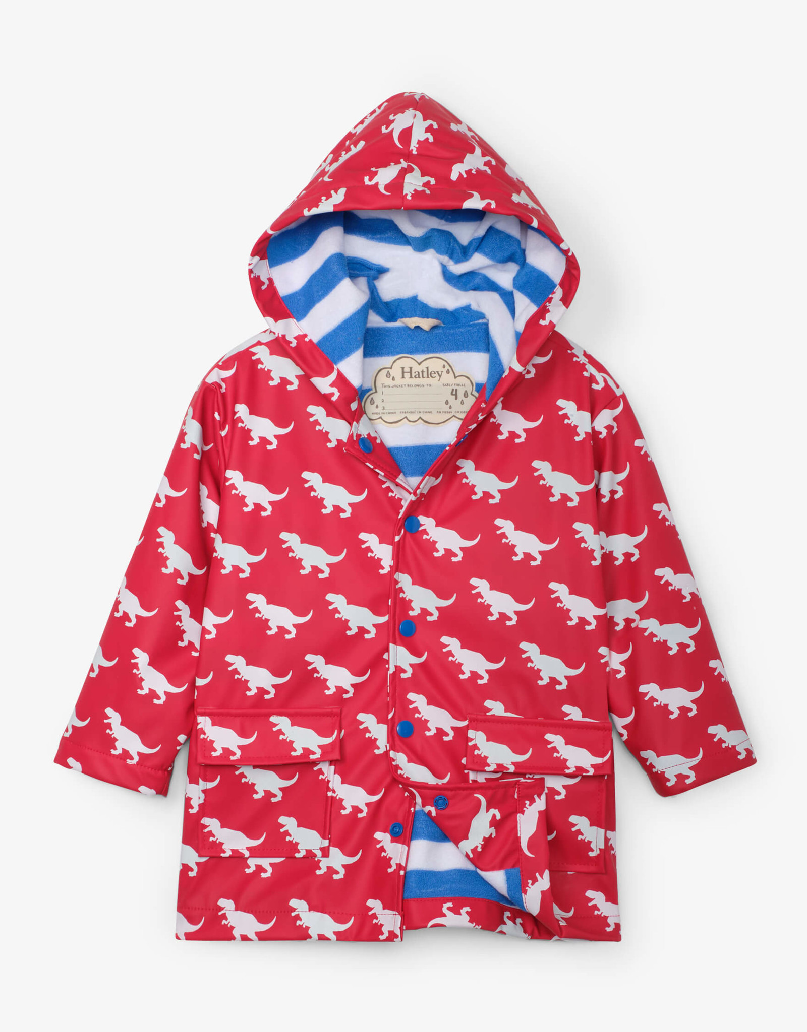 hatley T-Rex silhouettes Color Changing Raincoat