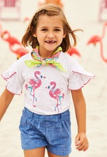 hatley Fancy Flamingo Flutter Sleeve Tee