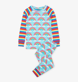 hatley Magical Rainbows Organic Cotton Raglan PJ Set