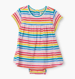 hatley Rainbow Stripe Baby One Piece Dress
