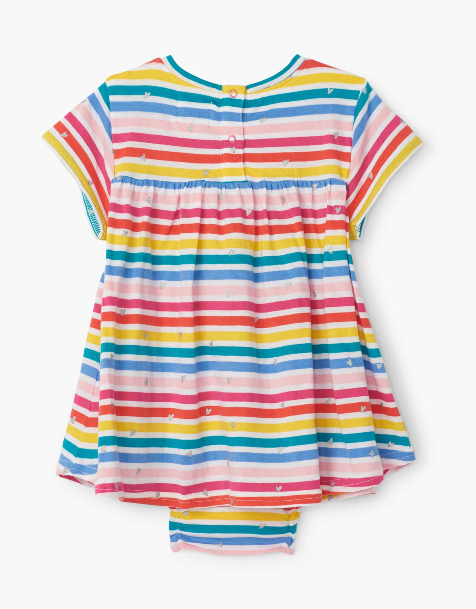 hatley Rainbow Stripe Baby One Piece Dress