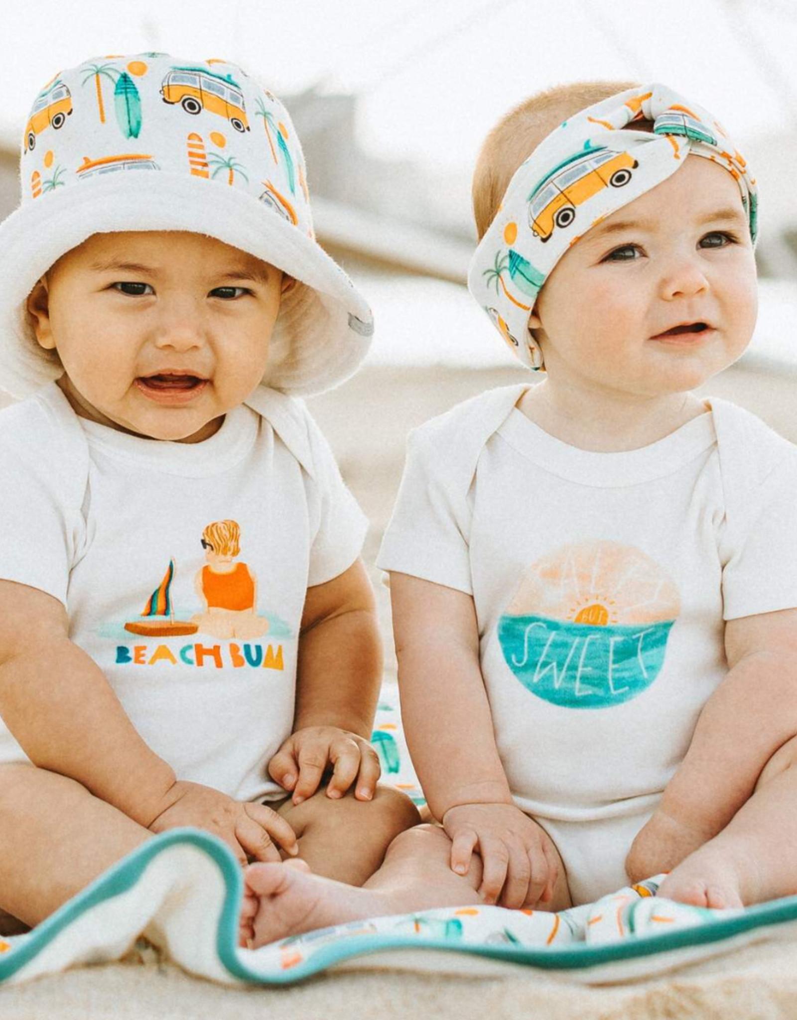 Finn and emma Beach Bum Onesie