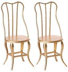 maileg Vintage Gold Micro Chairs set of 2