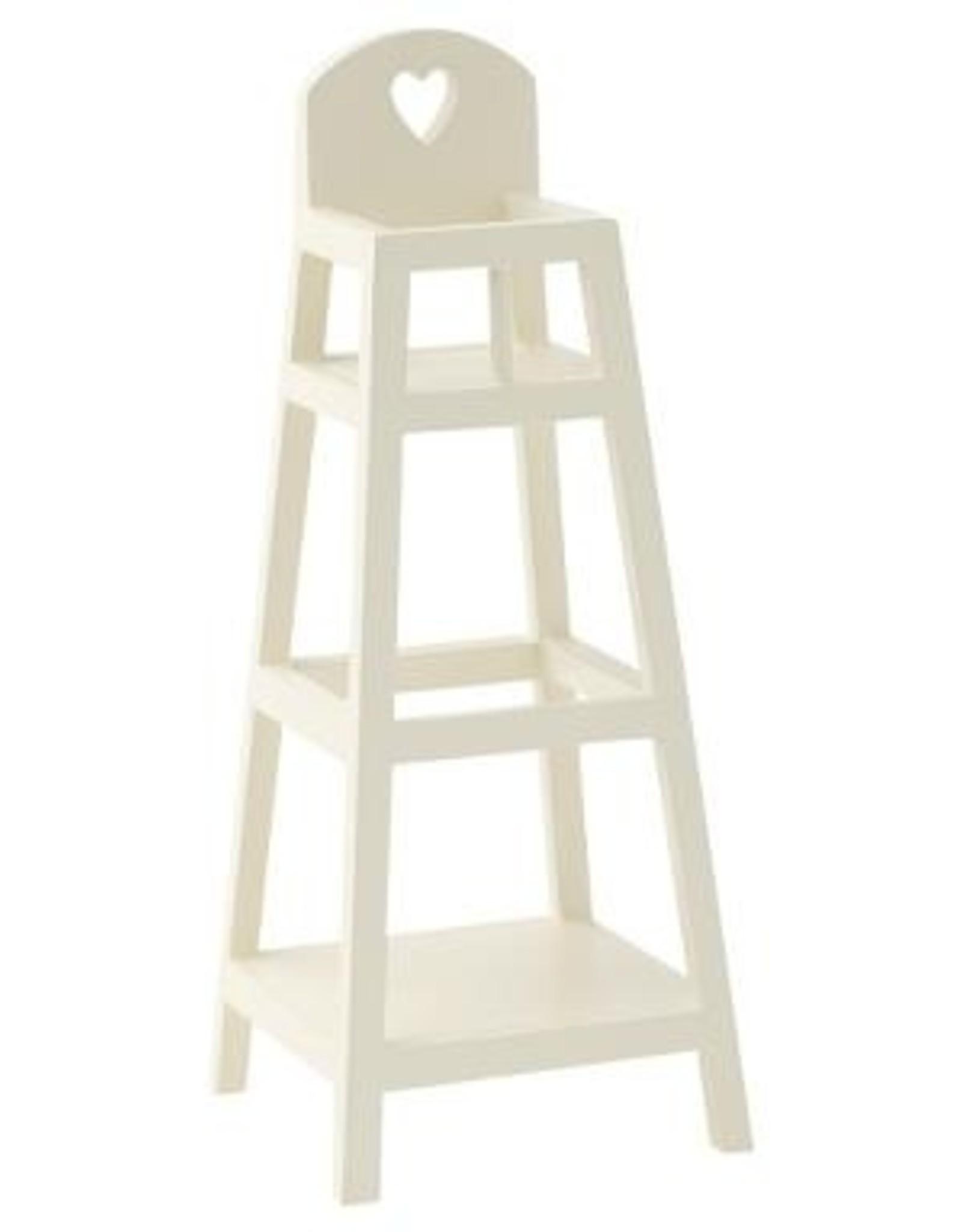 maileg White High Chair micro