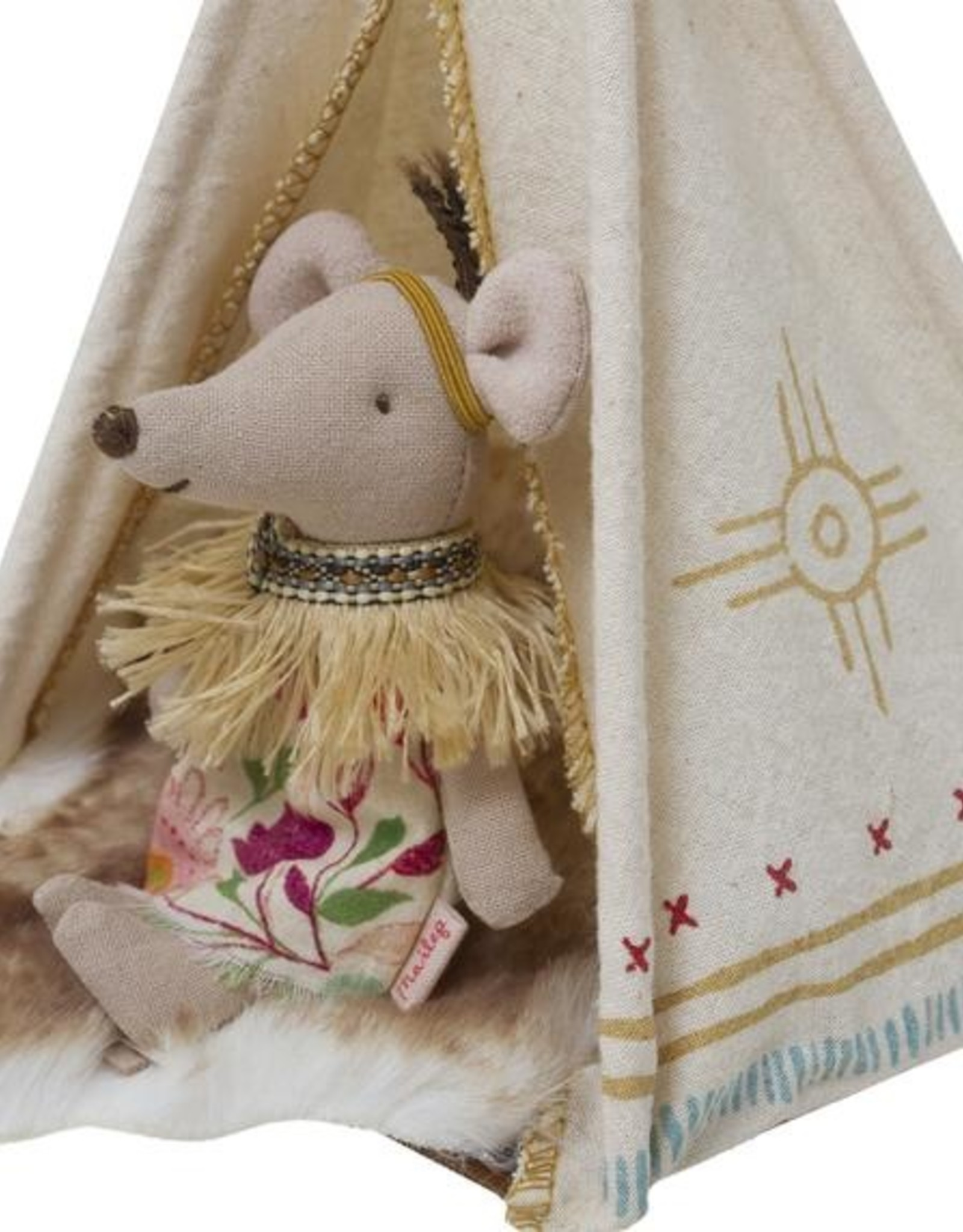 maileg Little Feather Mouse and Teepee