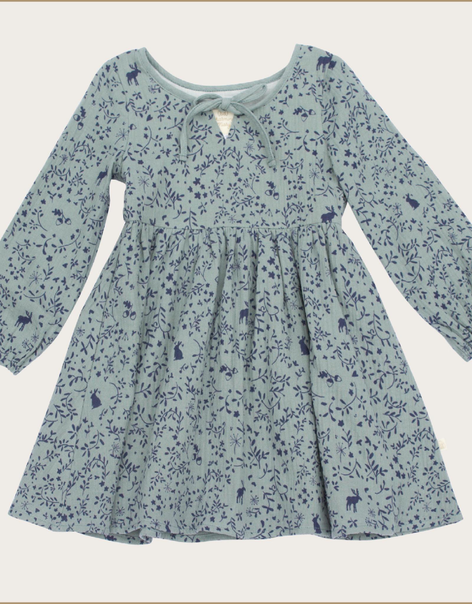 charming mary Woodland Gauze Dress