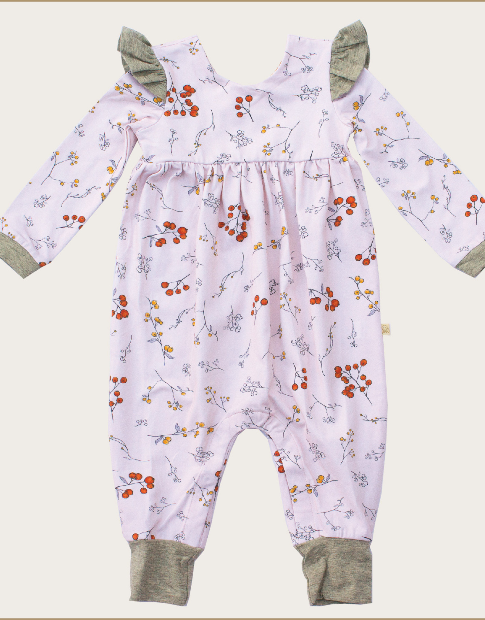 charming mary Winter Berries Flutter Romper