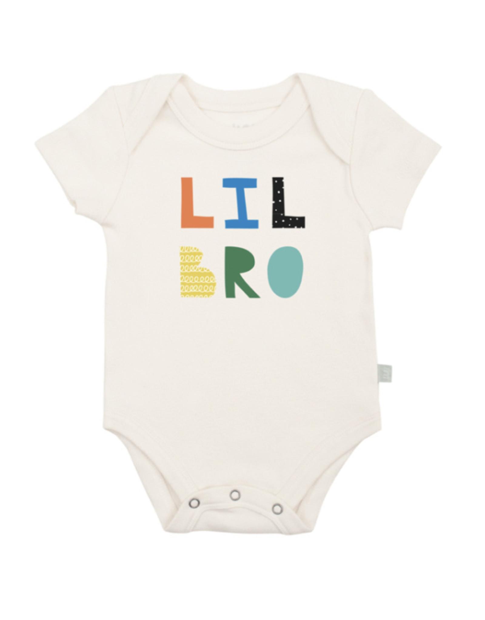 Finn and emma Lil Bro short sleeve onesie