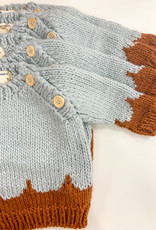 the blueberry bay Hand Knit Scallop Sweater