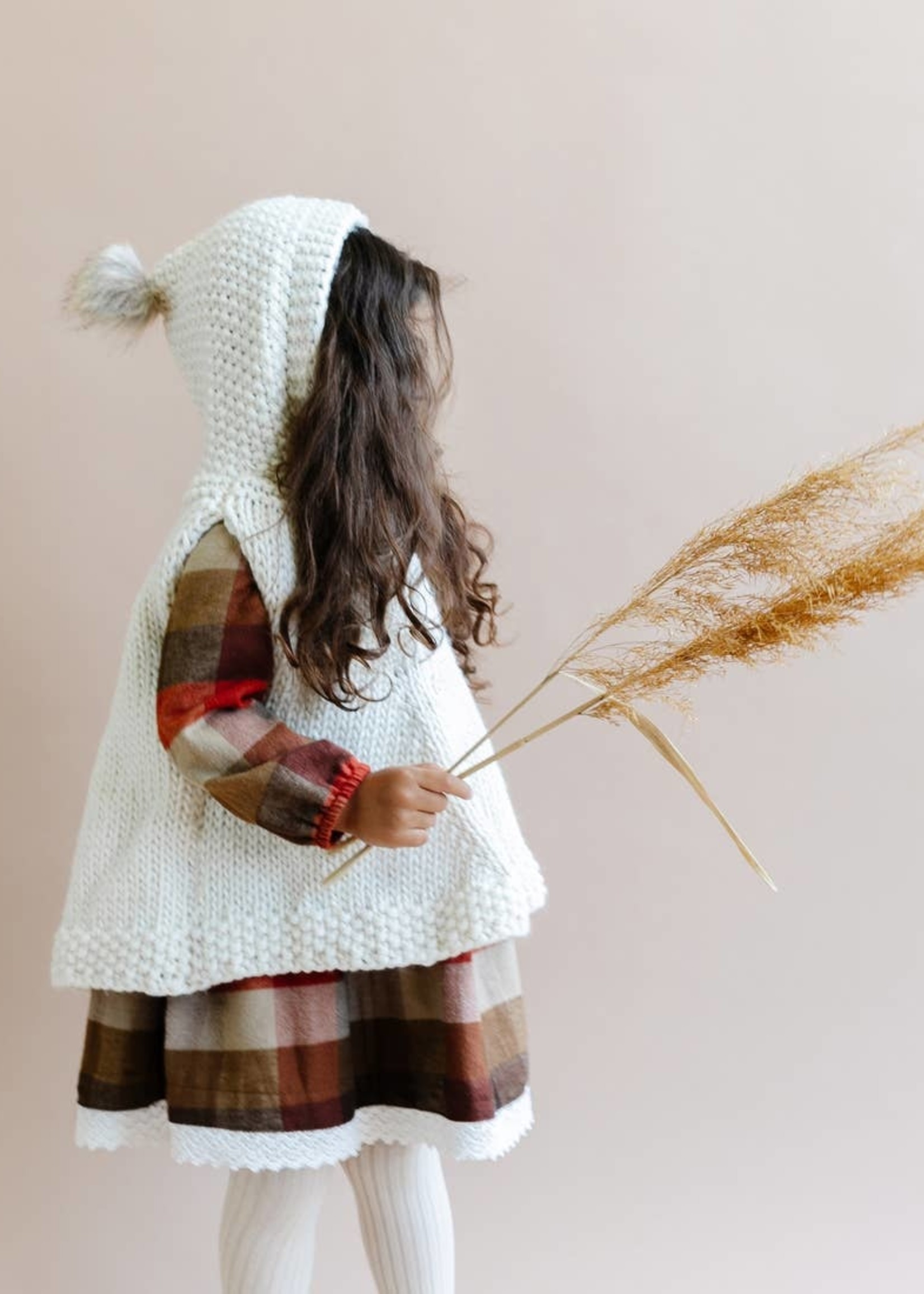 the blueberry hill Hand Knit Poncho