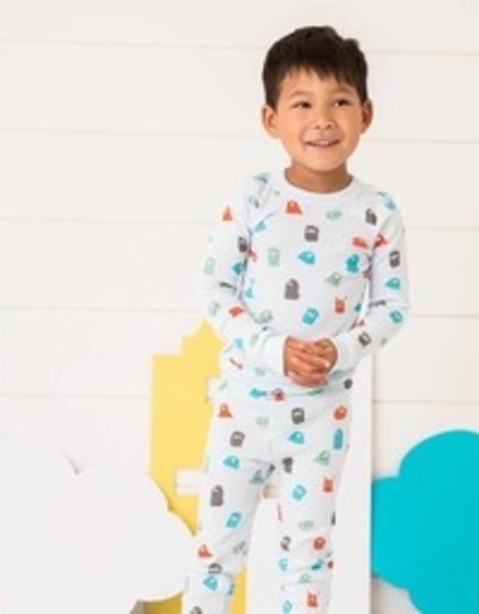 skylar luna Monster Print Long Sleeve Pajamas