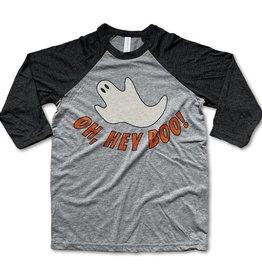 Rivet apparel Hey Boo Baseball Tee
