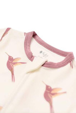 Kyte baby Kyte Baby zippered romper in hummingbird