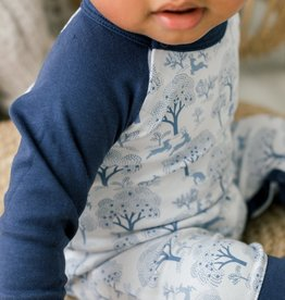 feather baby Deer & Appletrees Sailor Sleeve Romper