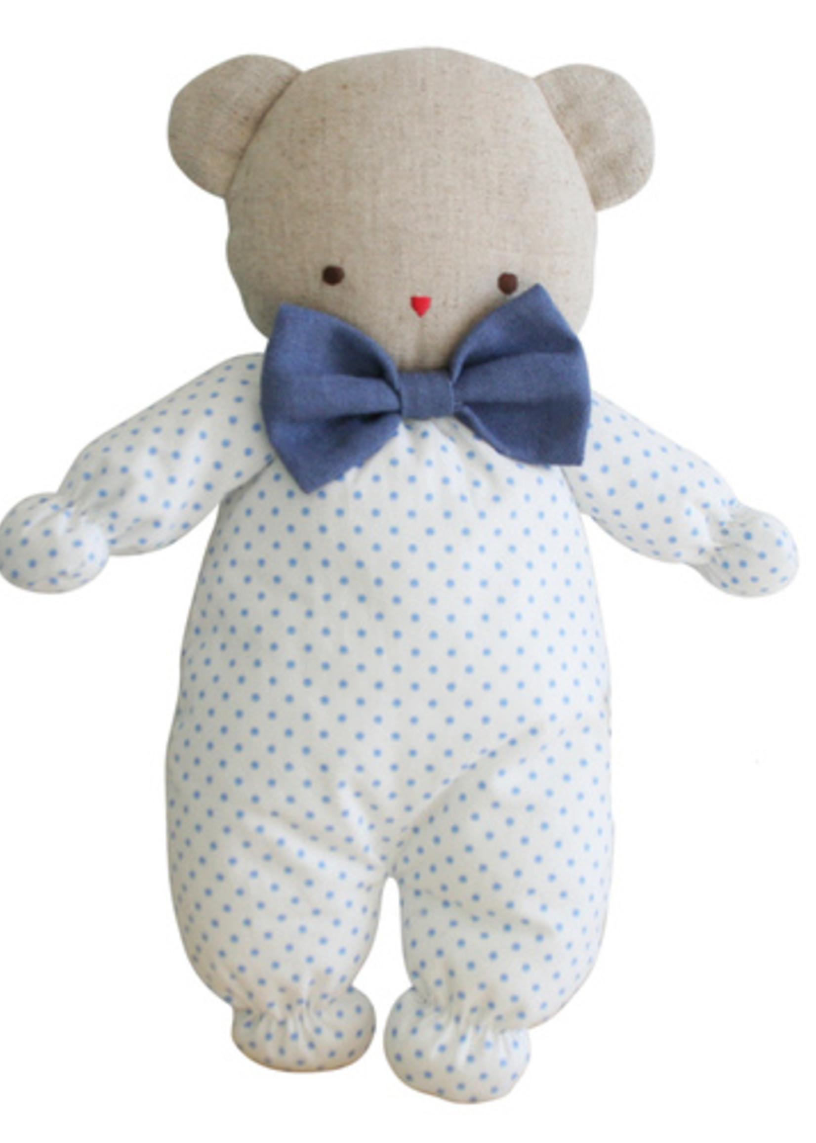 alimrose Asleep Awake Ted in Spotty Blue