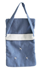 alimrose Baby Doll Carrier Bag in Blue Chambray