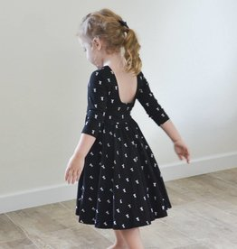 ollie jay Autumn Dress in Vintage Bow Twirl