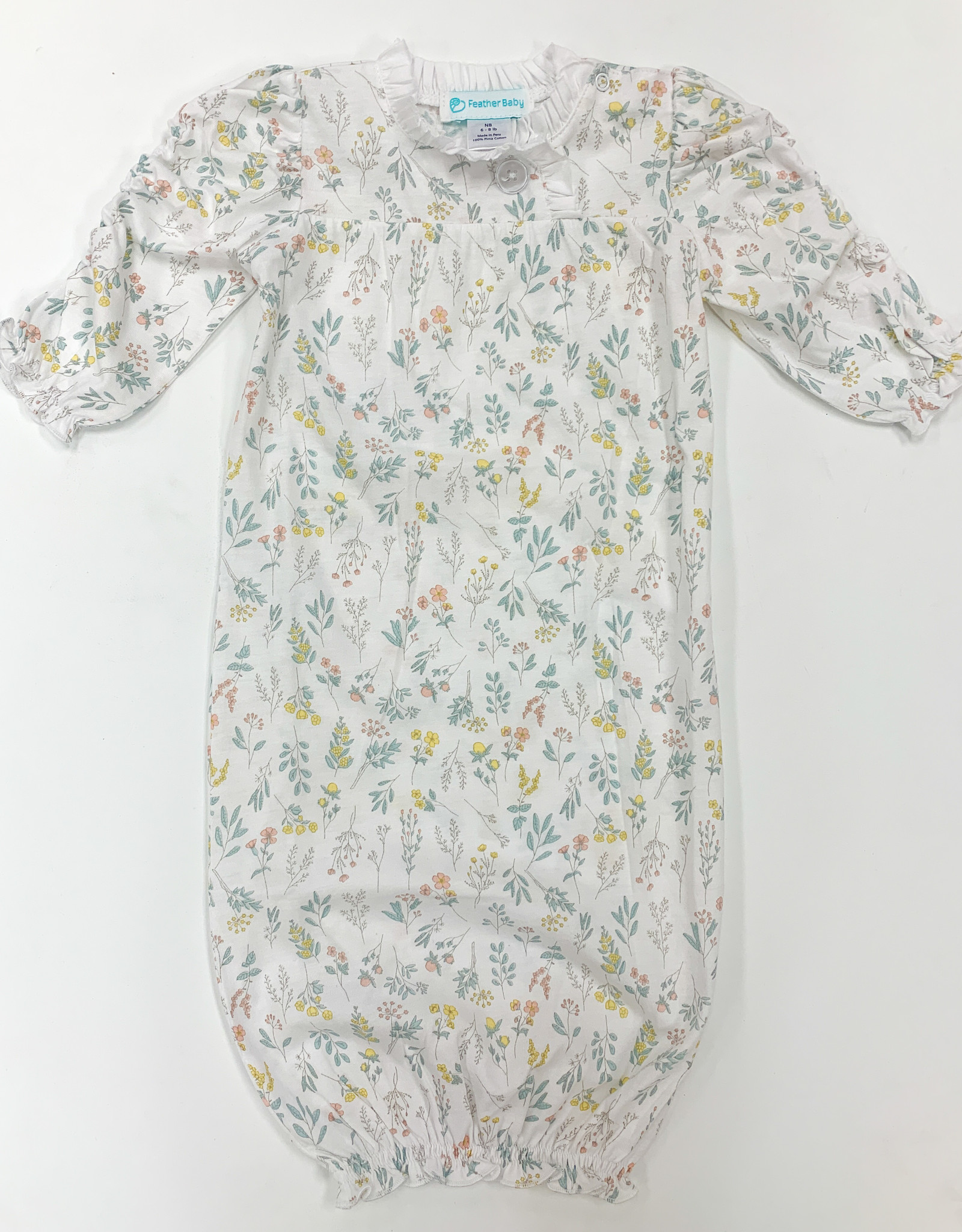feather baby Scrunch Arm Sack in Evelyn Floral