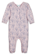 feather baby Ruched Romper in Deer and Appletrees