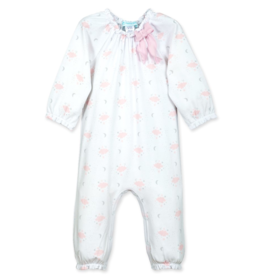 feather baby Bow Romper in Night Sky