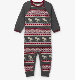 hatley Fair Isle Stags Baby Sweater Romper