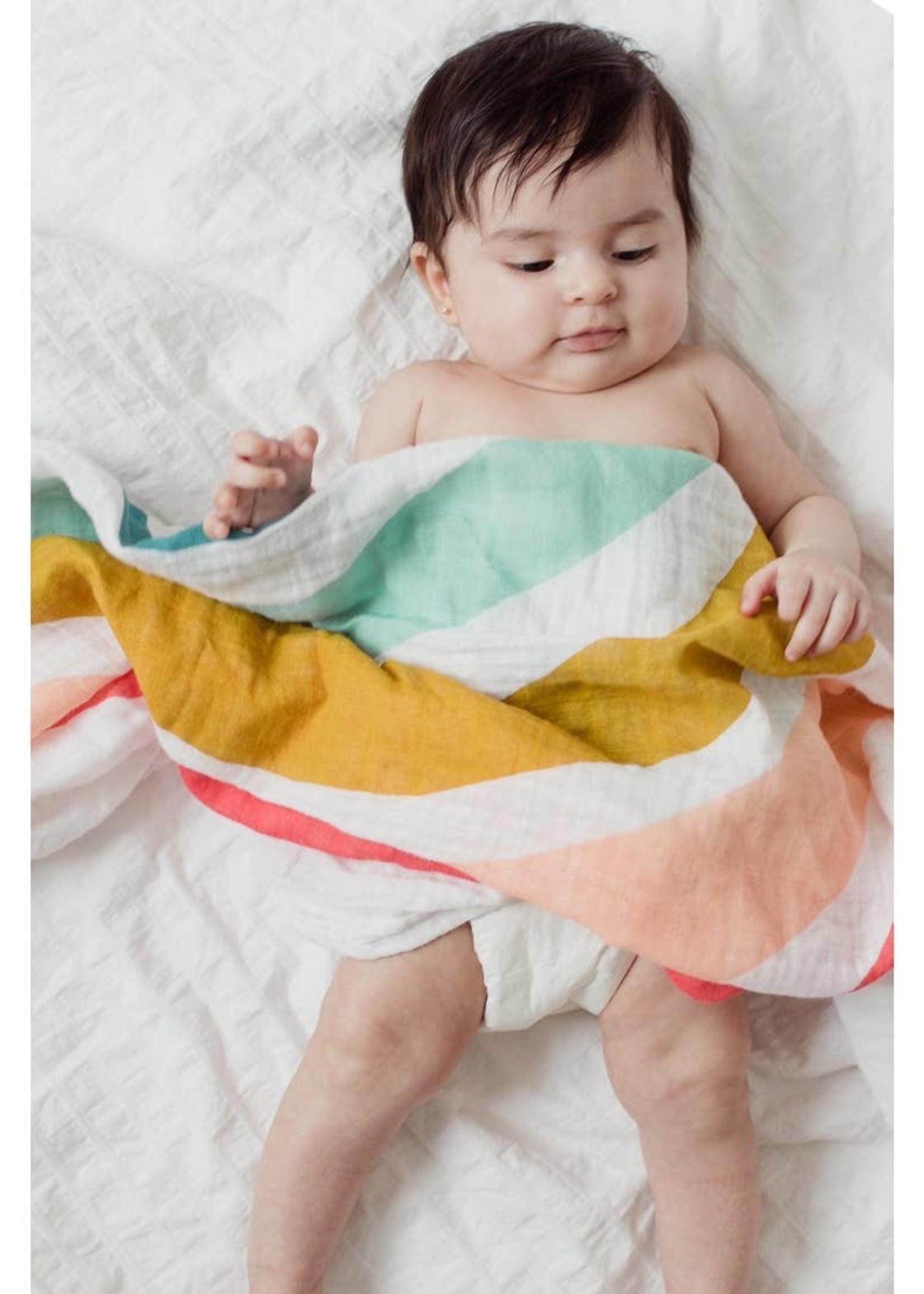 Clementine Kids Rainbow Swaddle