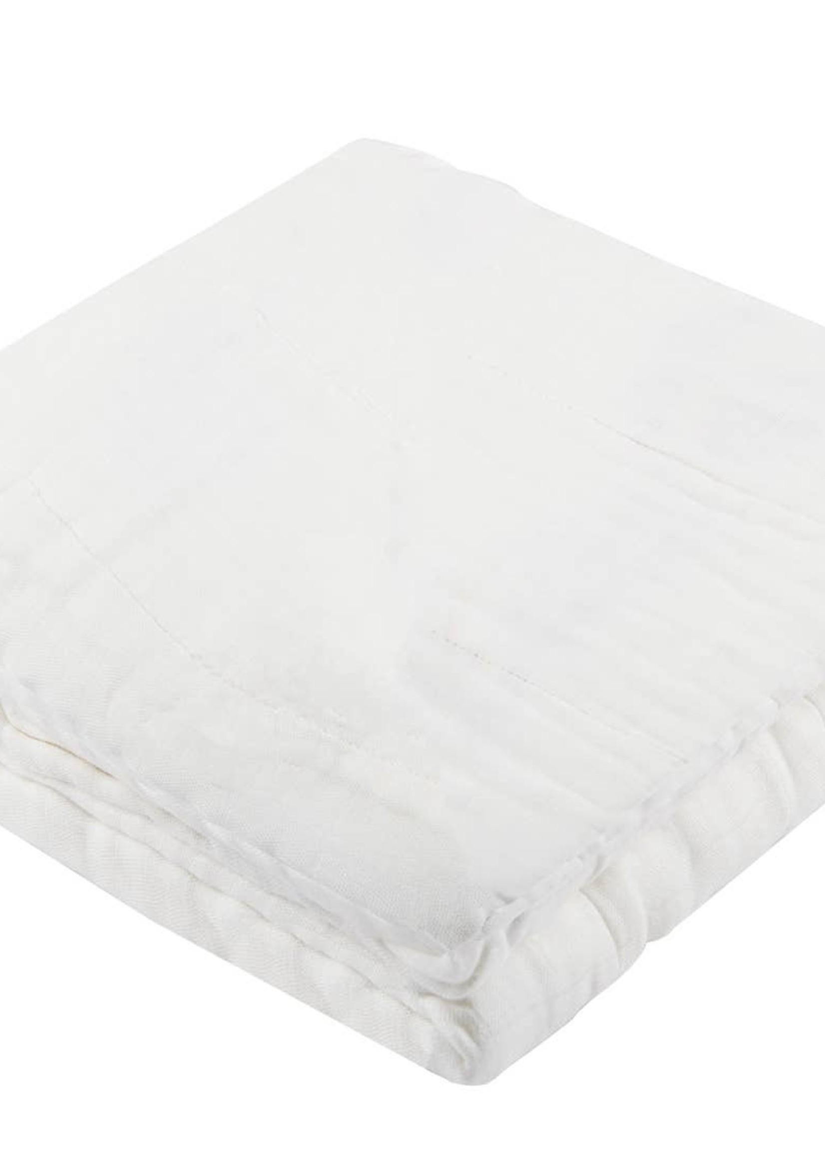 Newcastle classics White Cotton Blanket
