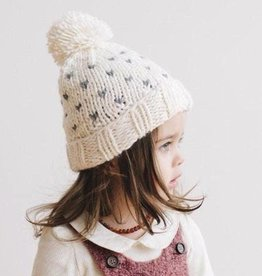 the blueberry hill Sawyer Tiny Heart Beanie 2-5yrs