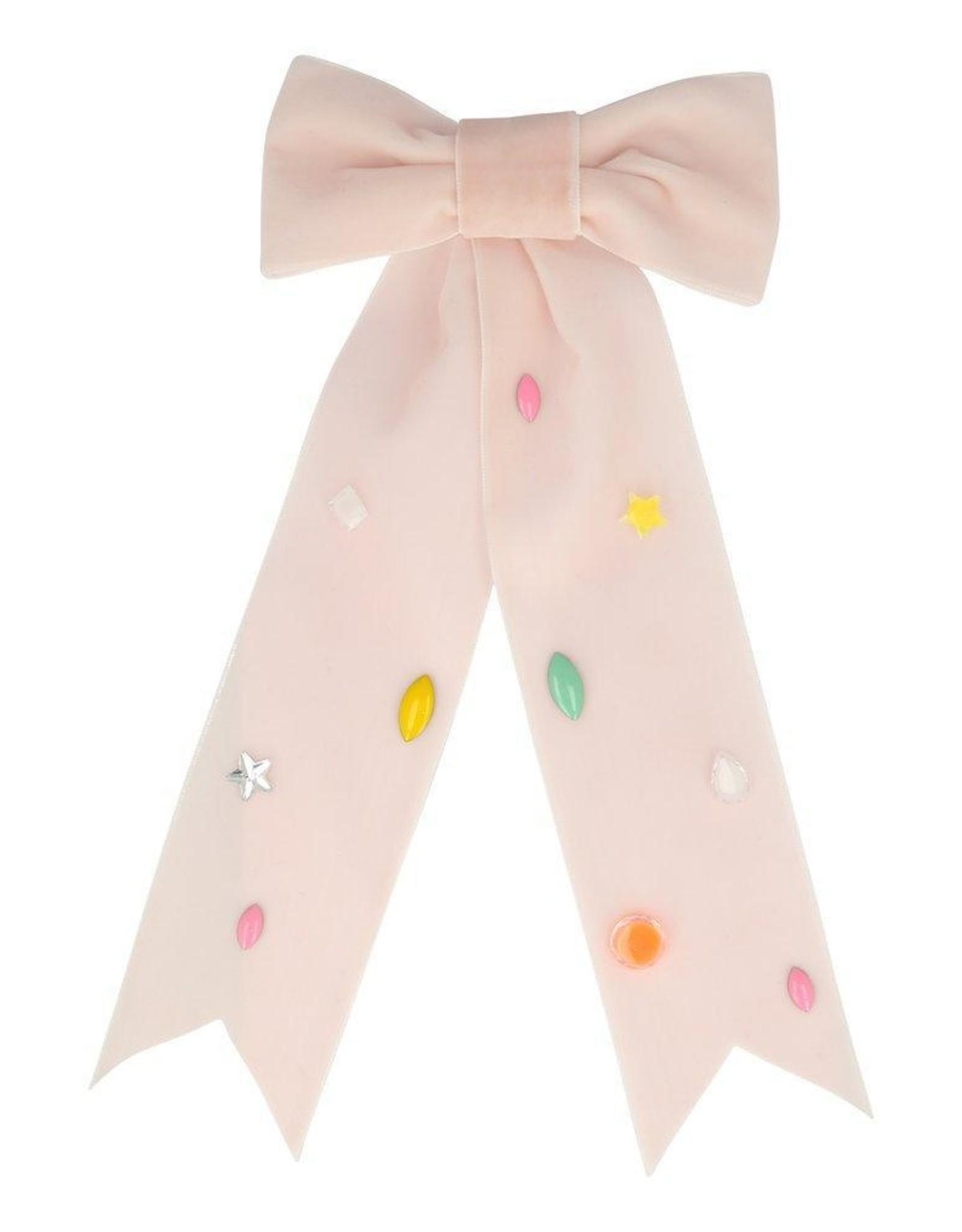 meri meri Pink Bow Large Hair Clip