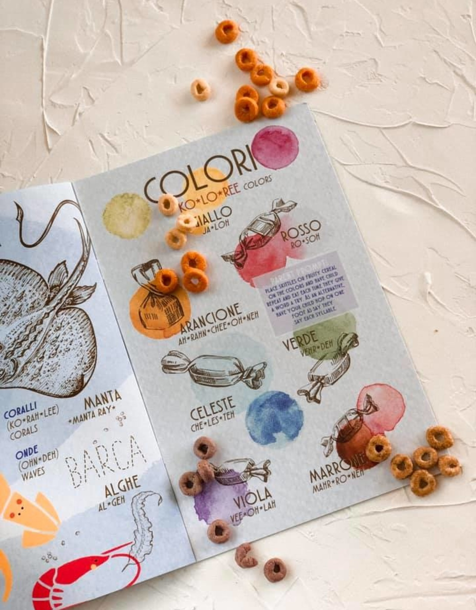 the visual poetic Kid's Handbook, Italian & English