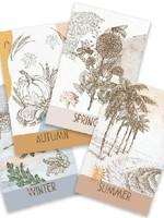 the visual poetic Four Seasons Deck - Italian & English Flashcards