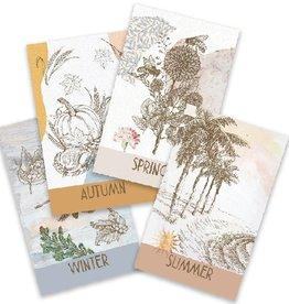 the visual poetic Four Seasons Deck - Italian & English Flashcards