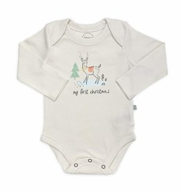 Finn and emma Long Sleeve Deer Christmas Onesie