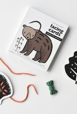 Wee gallery Lacing Cards - Woodland Animals