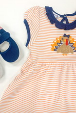 magnolia baby Give Thanks Applique Dress and Bloomer set