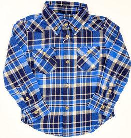 pedal Navy Plaid Shirt