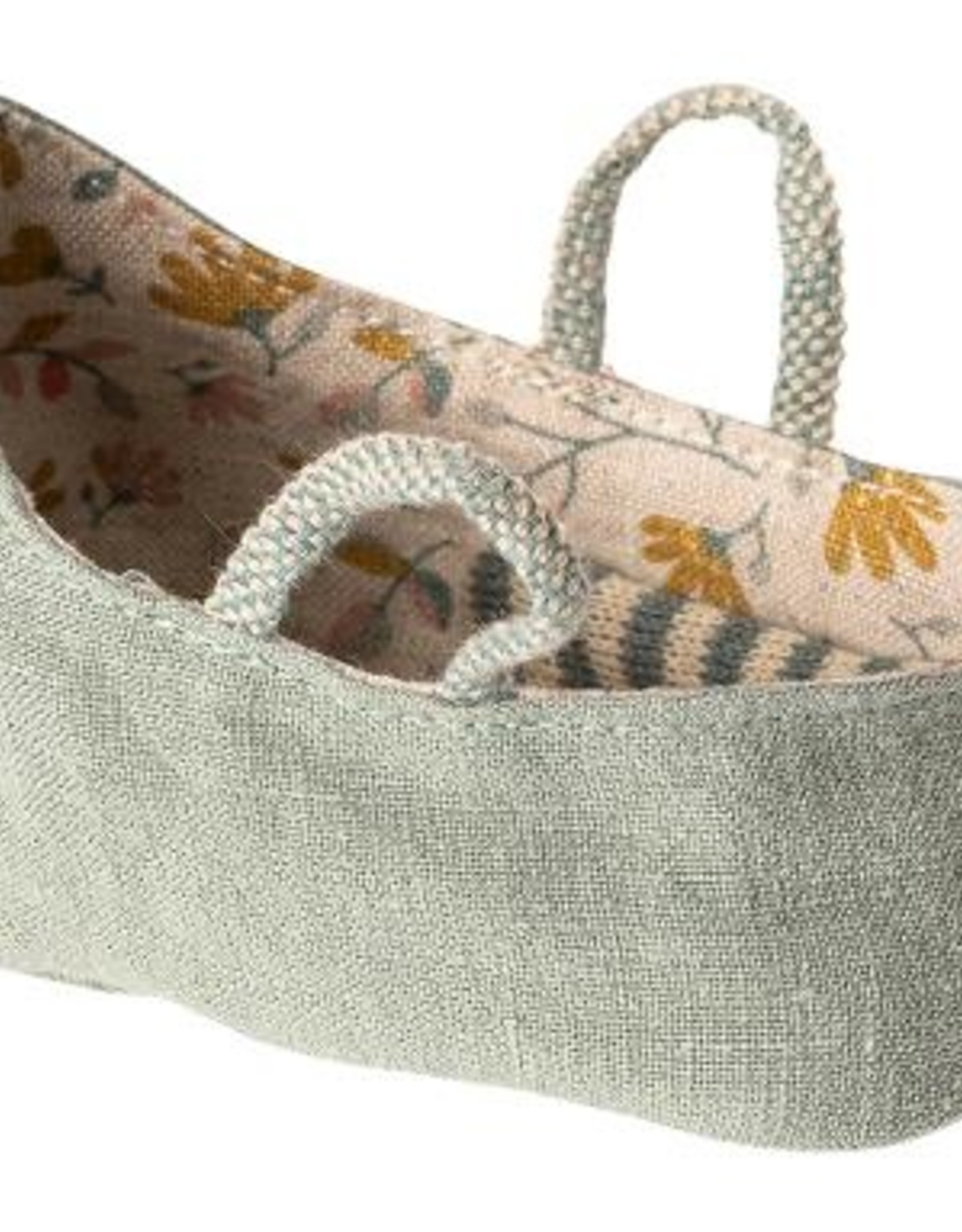 maileg My Carry Cot in Dusty Green