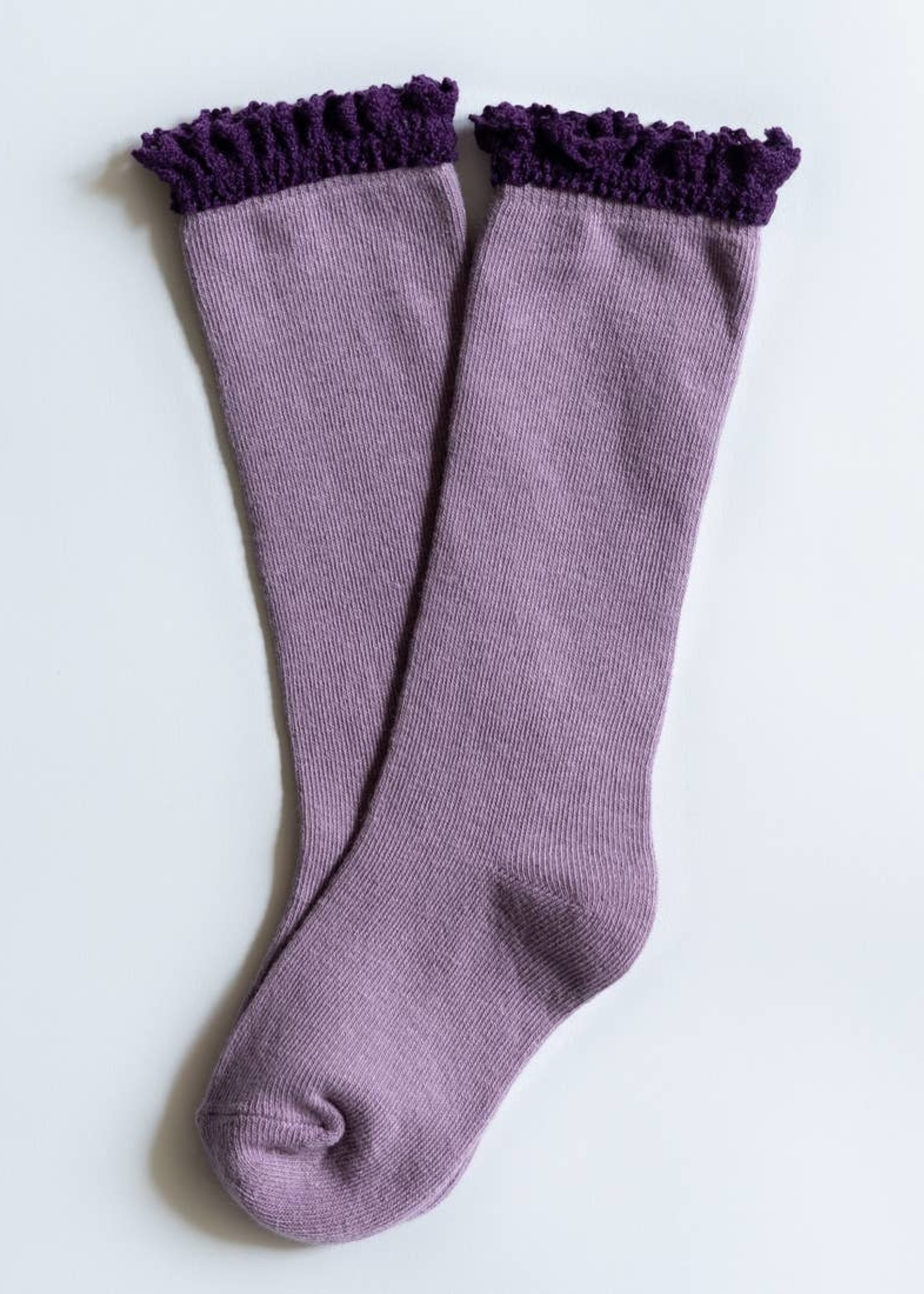 little stocking co Lace Top Knee Highs