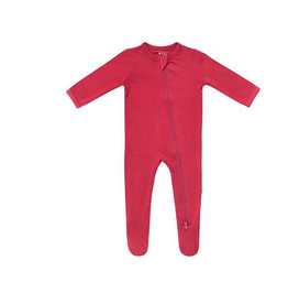 Kyte baby Zippered Footie in Ruby