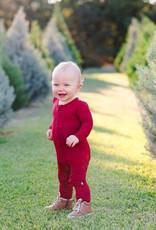 Kyte baby Zippered Footie in Ruby