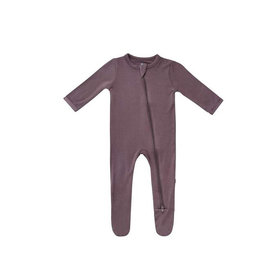 Kyte baby Zippered Footie in Cocoa in NB
