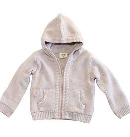 viverano organics Organic Cotton Ribbed Baby Hoodie