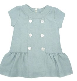 coquelicot Short Sleeve Blue Dress 12m